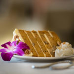 Enjoy fresh homemade carrot cake at our dining room.