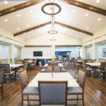 Relax and socialize with family and friends in the main dining room.